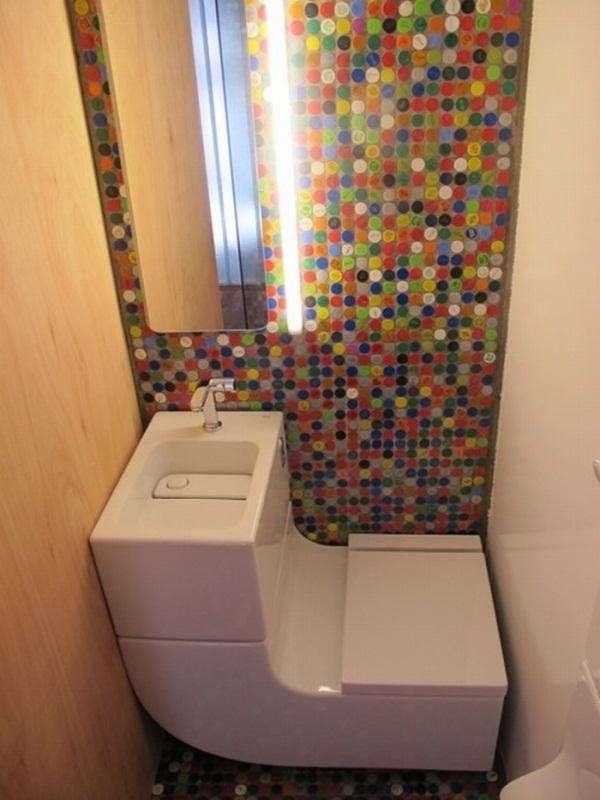 Wash Basin + Water Closet: Saving Water And Space