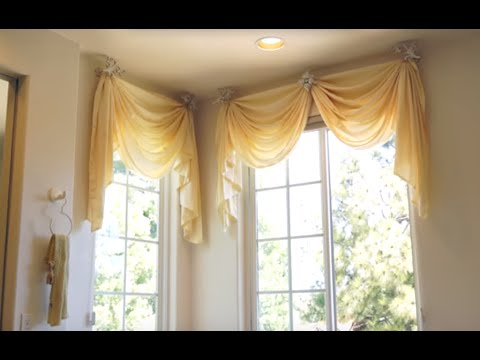 Bathroom Window Curtains: Bathroom Decorating Ideas for the Master Bath |  Galaxy-Design Video #122 - YouTube