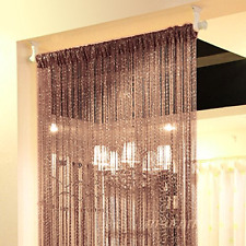 String Door Curtain Beads Room Divider Crystal Tassel Fringe Beaded Window  Pane