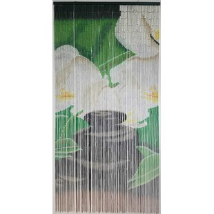 Beaded Floral Flower Semi-Sheer Thermal Single Curtain Panel