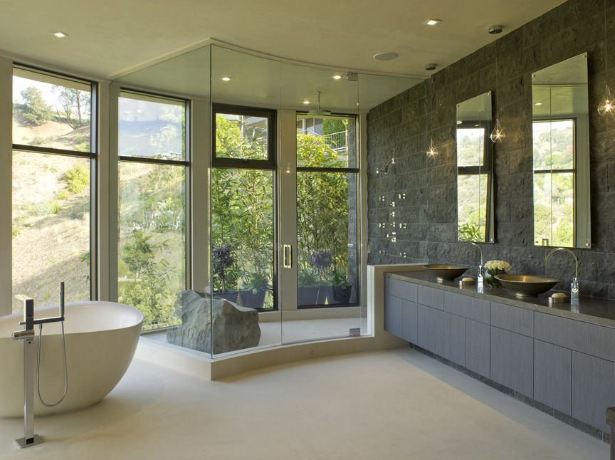 beautiful modern master bathrooms. comfortable contemporary master bathrooms  on bathroom with modern style features lava rock and view beautiful o