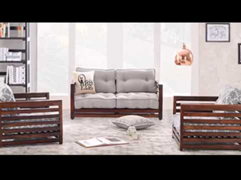 Simple Wood but Heavenly Beautiful Sofa Sets - YouTube