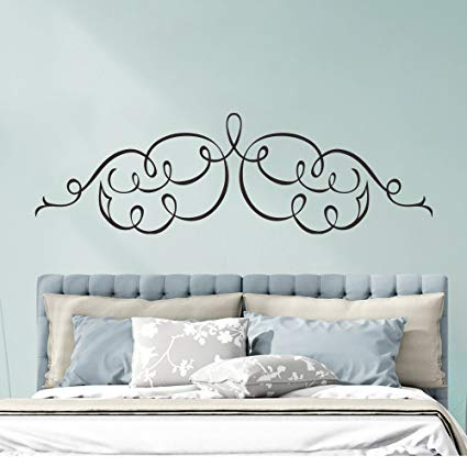 decalmile Headboard Wall Decal Bedroom Wall Art Stickers Removable