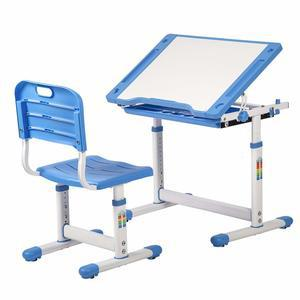BestMassage Children Desk Kids Study Child School Adjustable Height  Childrens Table Chair Set