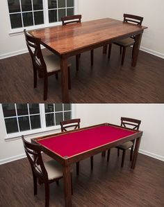 Gaming Table Gaming Table Diy, Poker Table Diy, Puzzle Table, Table Games,