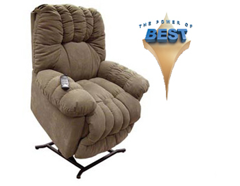 Best Power Lift Fabric Chair