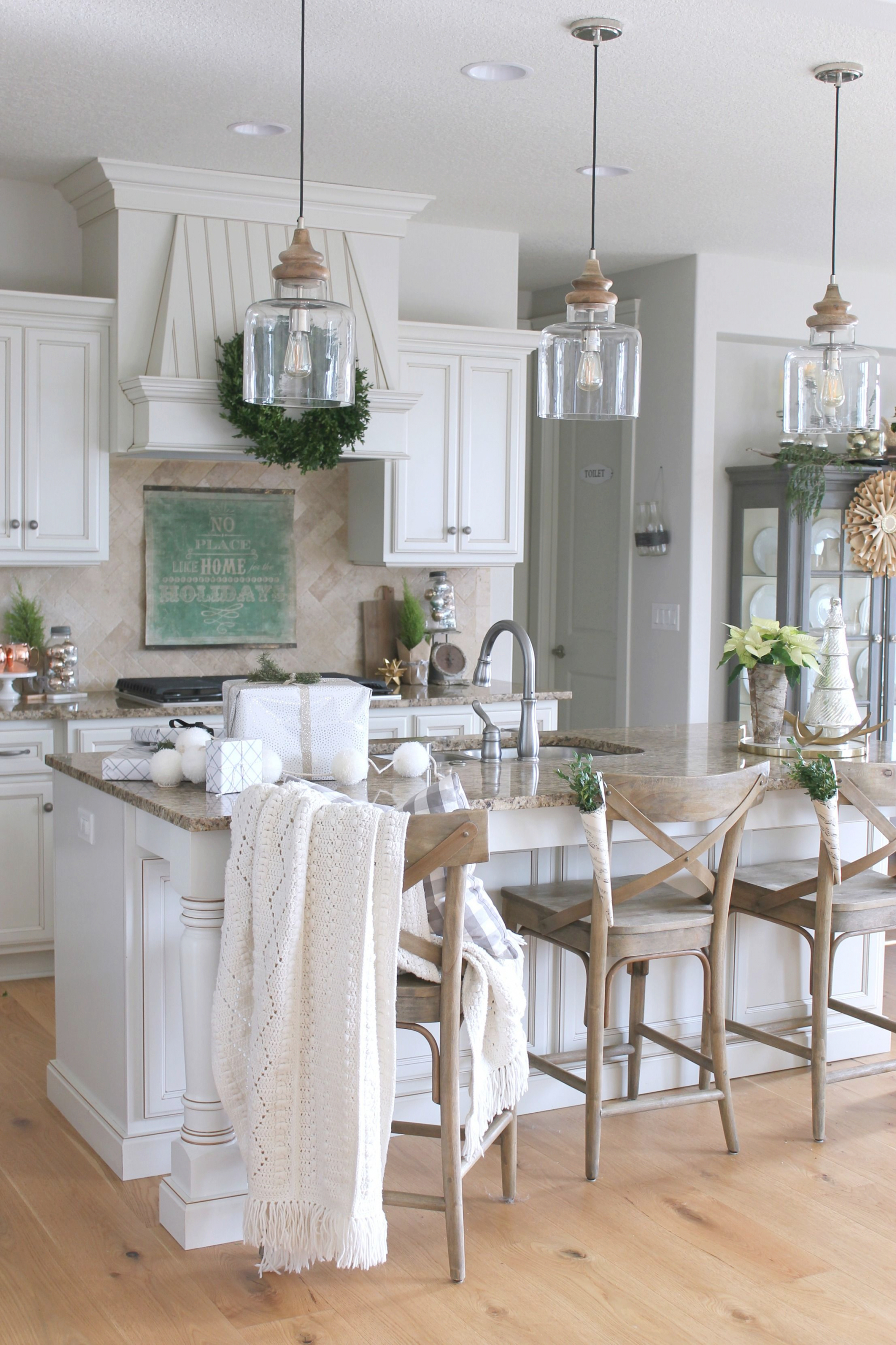 New Farmhouse Style Island Pendant Lights | Kitchens | Pinterest within Best  Pendant Lights For Kitchen