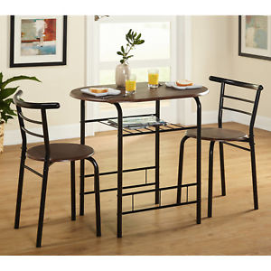 Image is loading Indoor-Bistro-Table-Chair-Set-3-Piece-Kitchen-