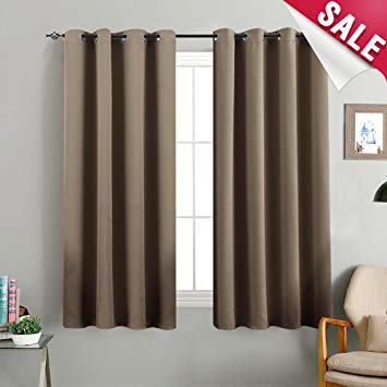 Amazon.com: Blackout Curtains Brown Bedroom Window Curtains Living