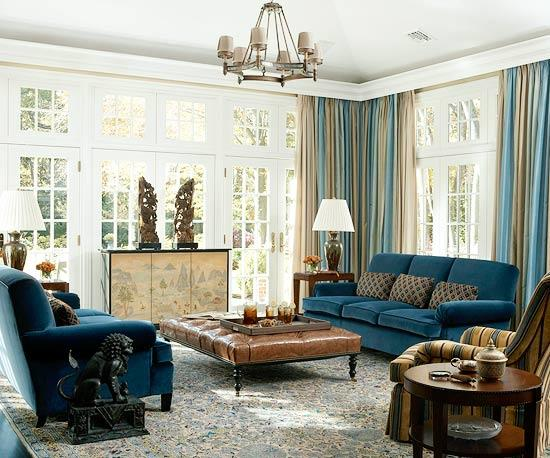 Decorating Ideas for Blue Living Rooms | Better Homes & Gardens