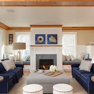 Navy Blue Living Room Ideas & Photos | Houzz