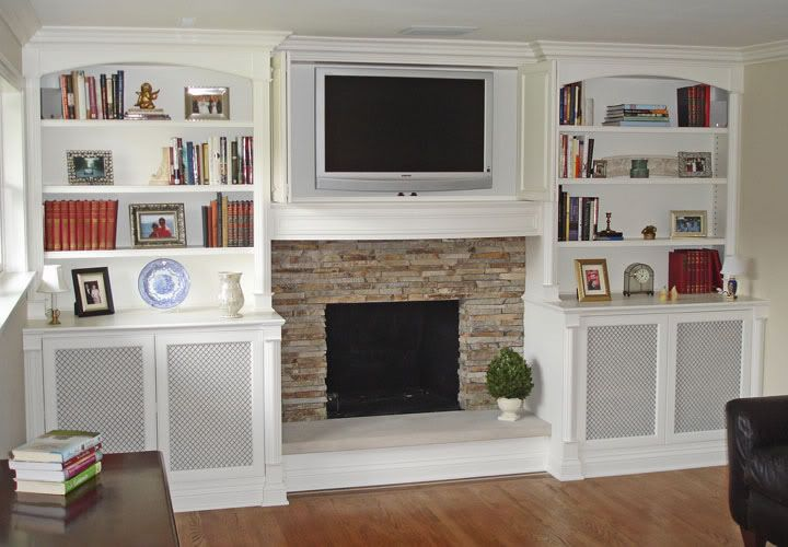 Bookcase Built In Cabinets Around Fireplace | Built-in bookcases around a  shallow fireplace??