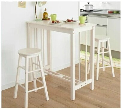 Wood breakfast table breakfast bar stool chair bar tables bar small  apartment small household combination coffee table and chair