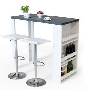 Image is loading Breakfast-Bar-Table-Dining-Wine-Storage-Rack-Kitchen-