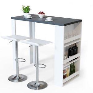 Image is loading Breakfast-Bar-Table-Dining-Wine-Storage-Rack-Kitchen-