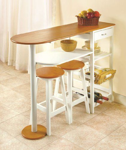 Breakfast Bar with 2 Stools by HomeACCESS. $136.95. Informal dining