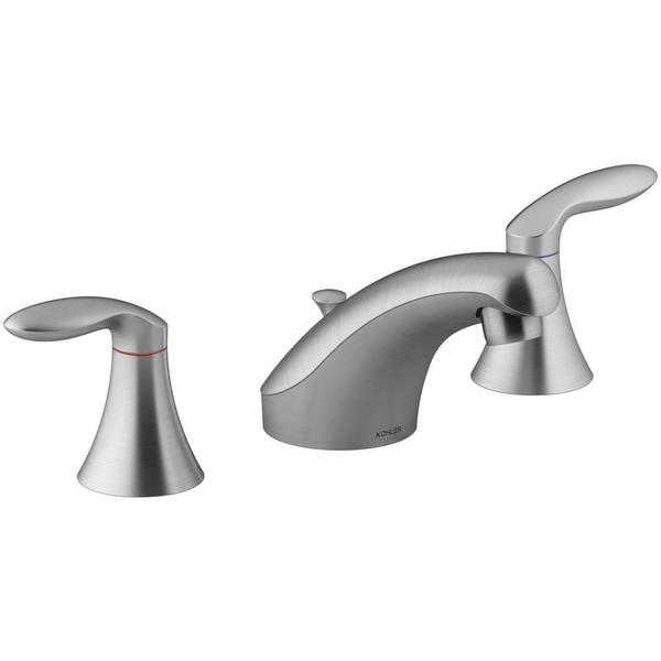 Shop Kohler Coralais Brushed Chrome Lift Rod Widespread Bathroom