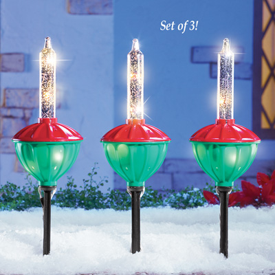 Outdoor Christmas Bubble Lights Decoration from Collections Etc.