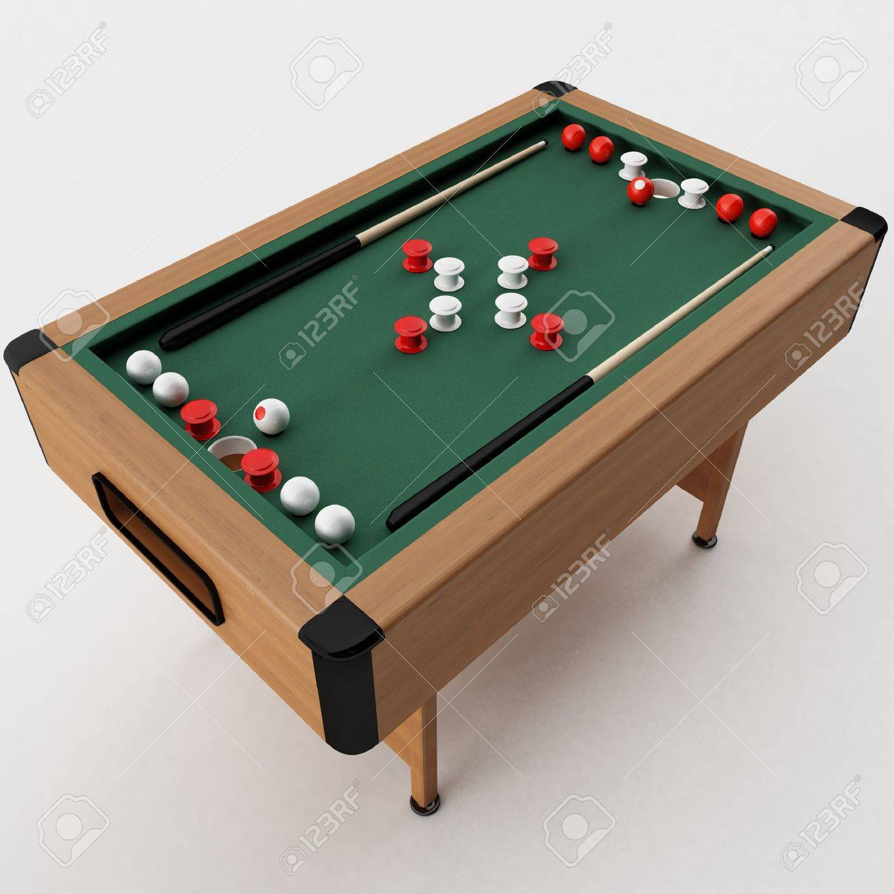 3d rendering of a Bumper Pool Table Stock Photo - 6454961