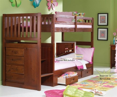Traveller Location: Stair Step Bunk Bed with 3-Drawer Bunk Pedestal: Kitchen &  Dining