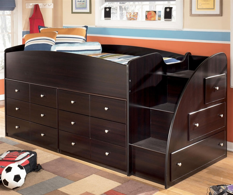 Embrace Loft Bed with 9 Drawers | Bedroom Furniture, Beds | Ashley Furniture