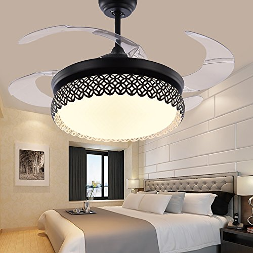Tipton Light Black Modern Simple Invisible Fan Lights Led Ceiling