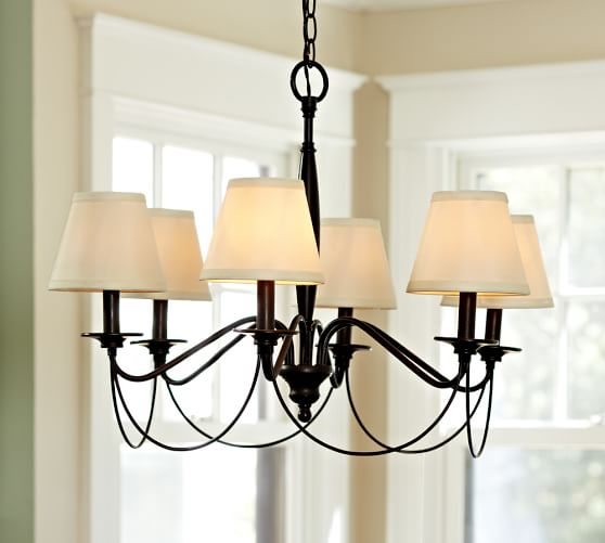 PB Basic Silk Chandelier Shade, Set of 3