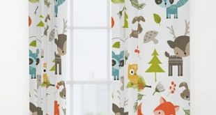 Animals Curtains, Woodland Animals Window Curtains, Animals Drapes, Kids  Curtain, Forrest Curtain, Curtain Panels, Childrens curtains, woods