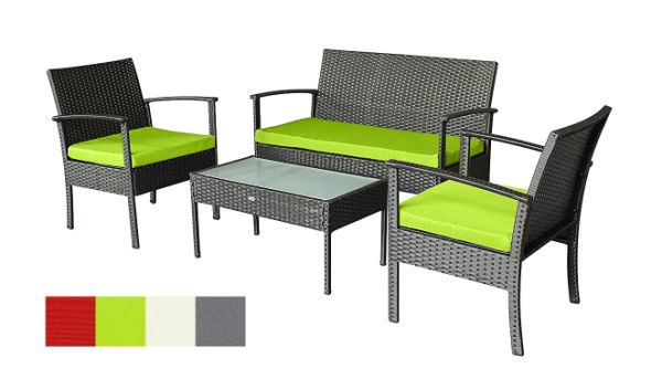 Patio Furniture Sets Clearance Outdoor Set Small Rattan Wicker Chairs  Backyard Porch Furniture W/ Extra
