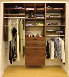 Create a custom closet design that work for your style and space. Organize  and declutter your storage space with custom closets, storage and cabinetry.
