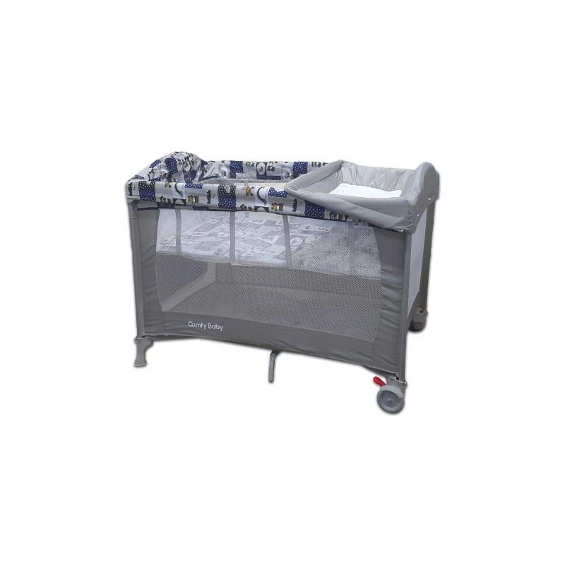 Comfy Baby Travel Cot - Premium Grey (FOC Memory Foam Mattress Topper).  Loading zoom