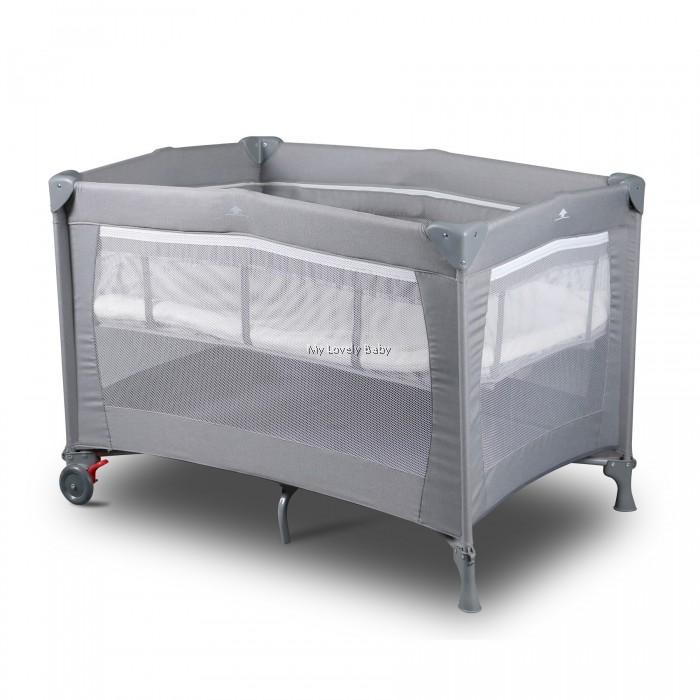 Comfy Baby Exclusive Travel Cot - Grey ( GET Comfy Baby Topper +  Blanket )
