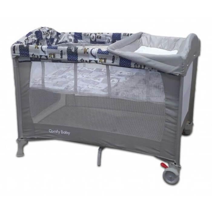 -10% Comfy Baby Travel Cot - Premium Grey