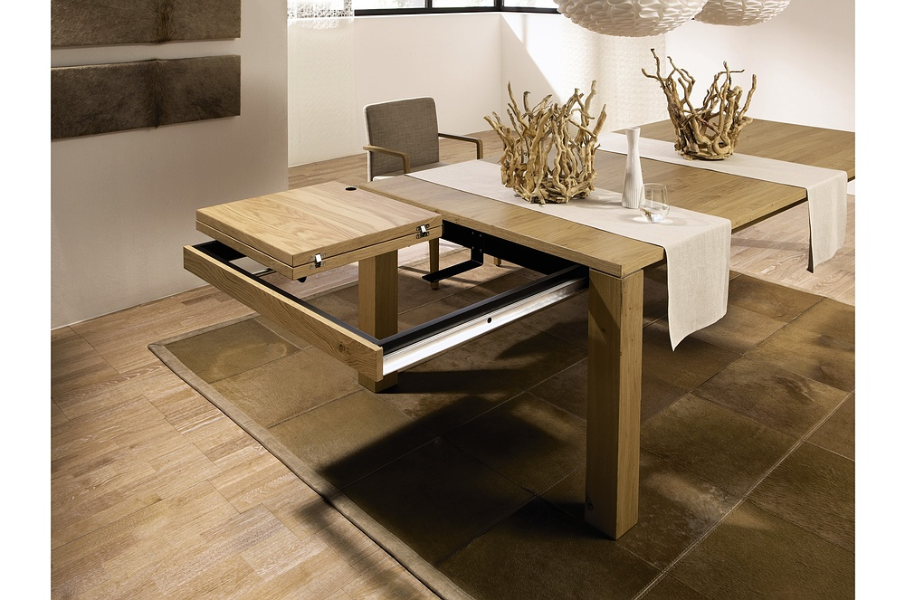 Dining Tables, %: amusing modern expandable dining table