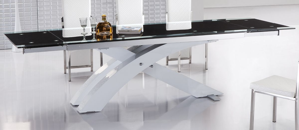 Extendable Modern Dining Table Contemporary Extendable Dining Table With  Glass Top And Metal Base