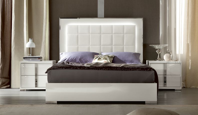 Contemporary white high gloss italian bedroom furniture | house