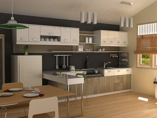 Kitchen Design, Engaging Modern Kitchen Cabinets Combining With
