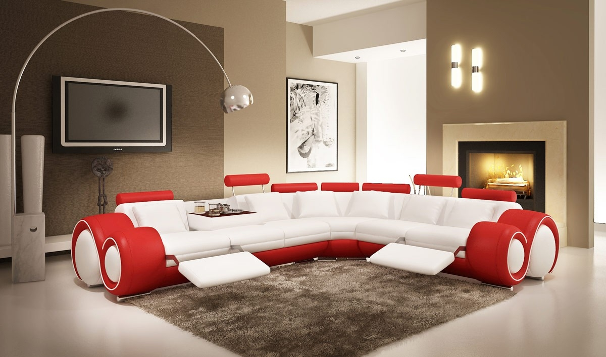 Image of: Contemporary Leather Recliner Sofa Design