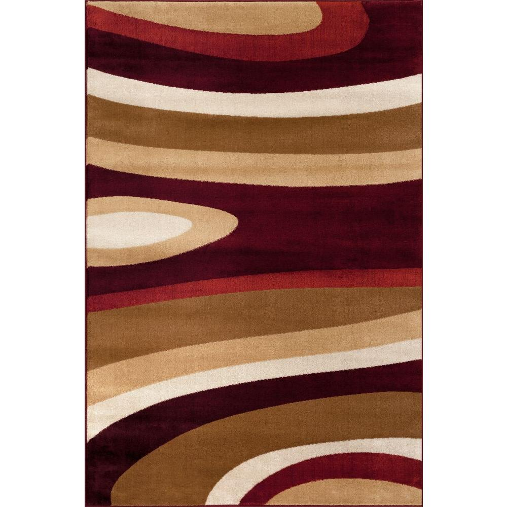 This review is from:Abstract Contemporary Modern Burgundy 5 ft. x 7 ft.  Indoor Area Rug