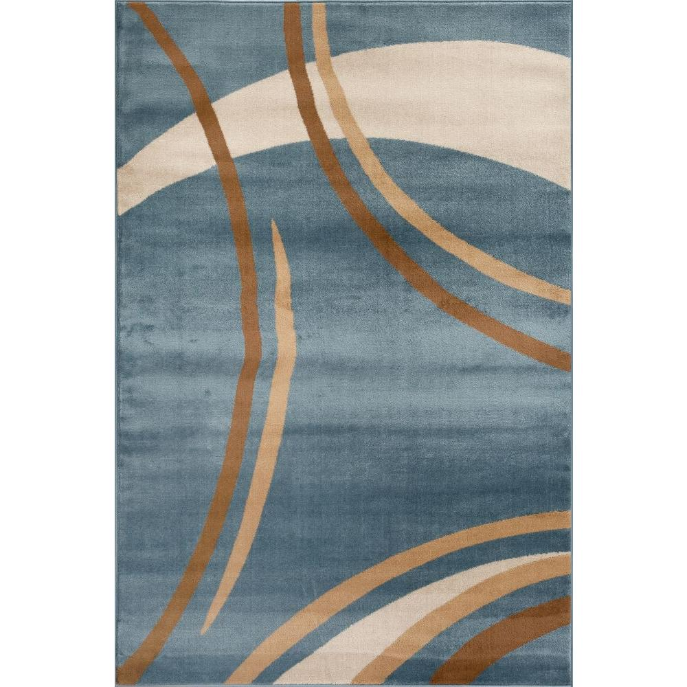 This review is from:Contemporary Modern Wavy Circles Blue 5 ft. x 7 ft.  Indoor Area Rug