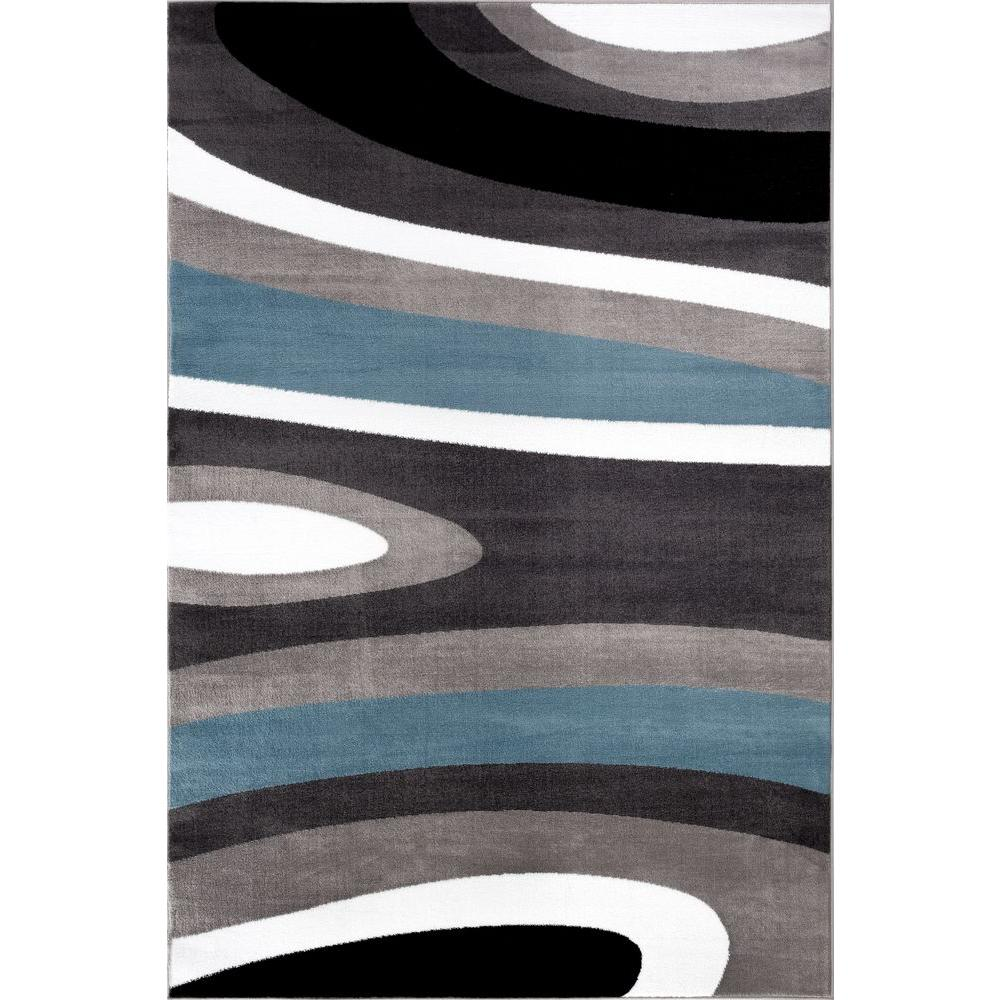This review is from:Abstract Contemporary Modern Blue 8 ft. x 10 ft. Indoor Area  Rug
