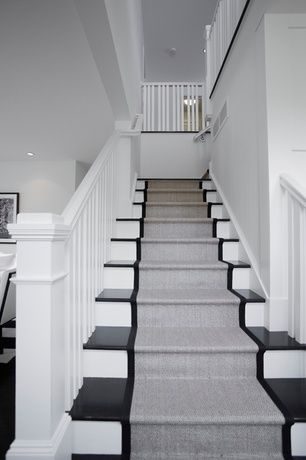 Basement contemporary stair runners – a   necessity for the safety of your house