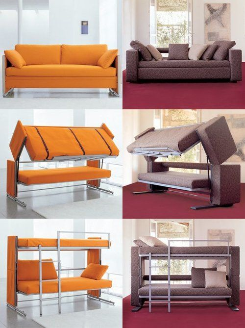 Sofa bunk bed (£3,000) - 10 Out of the Ordinary Convertible Beds