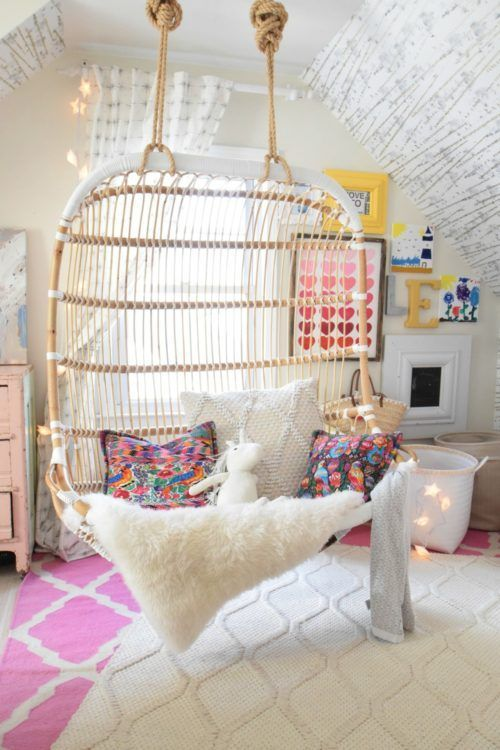 Inspiring Teenage Bedroom Ideas Hanging Chair Teen And
