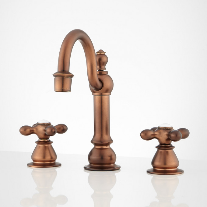 Orford Widespread Bathroom Faucet - Antique Copper - Bathroom