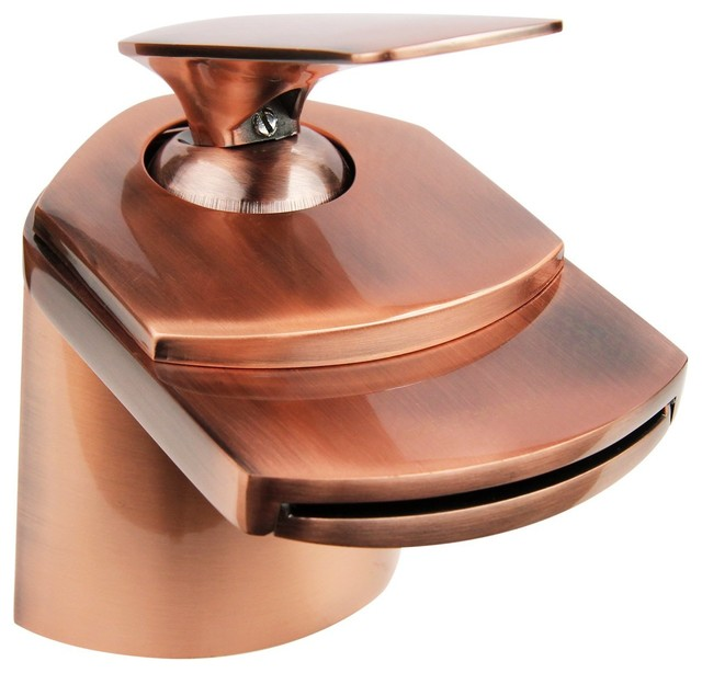 Antique Copper Waterfall Bathroom Faucet - Transitional - Bathroom