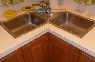 Give luxurious designs to modular kitchen with corner kitchen sink cabinet