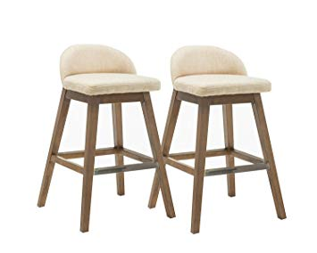 Amazon.com: Kmax Patio Bar Height Stools Set, Fabric Accent Counter