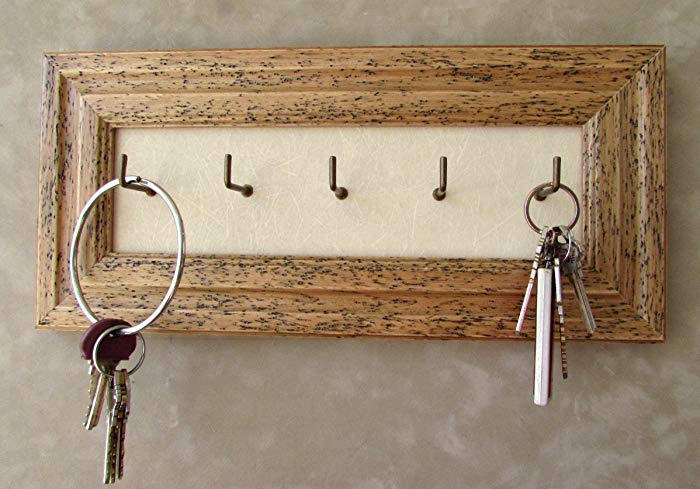 Distressed Key holder, Wall Mounted Key Hooks, Rustic Key Holder, Cottage  Decor,