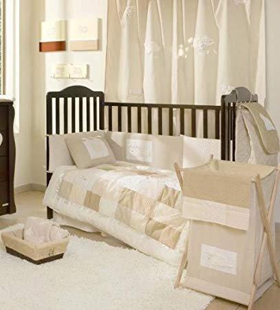 Traveller Location : Cream Sheeps Crib Bedding Collection 4 Pc Crib Bedding Set :  Modern : Baby